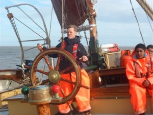 Learning to handle a sailing barge
