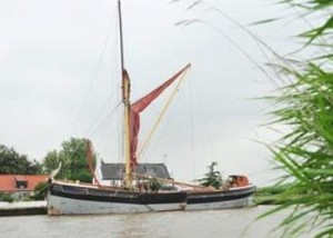 Cambria begine the task of lowering her gear before proceeding to Norwich